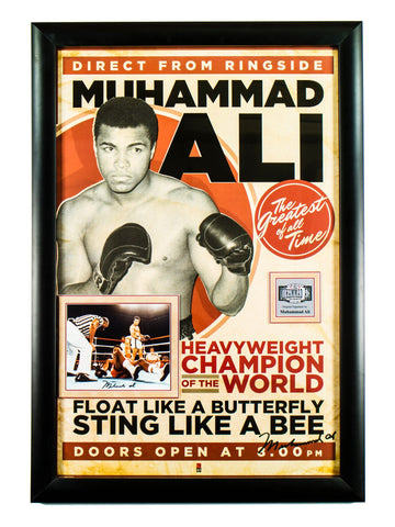 Muhammad Ali Signed Event Poster