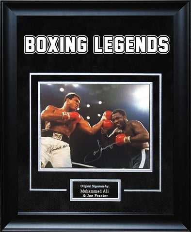 Muhammad Ali Joe Frazier Fight of the Century Signed Photo Framed Artist Series