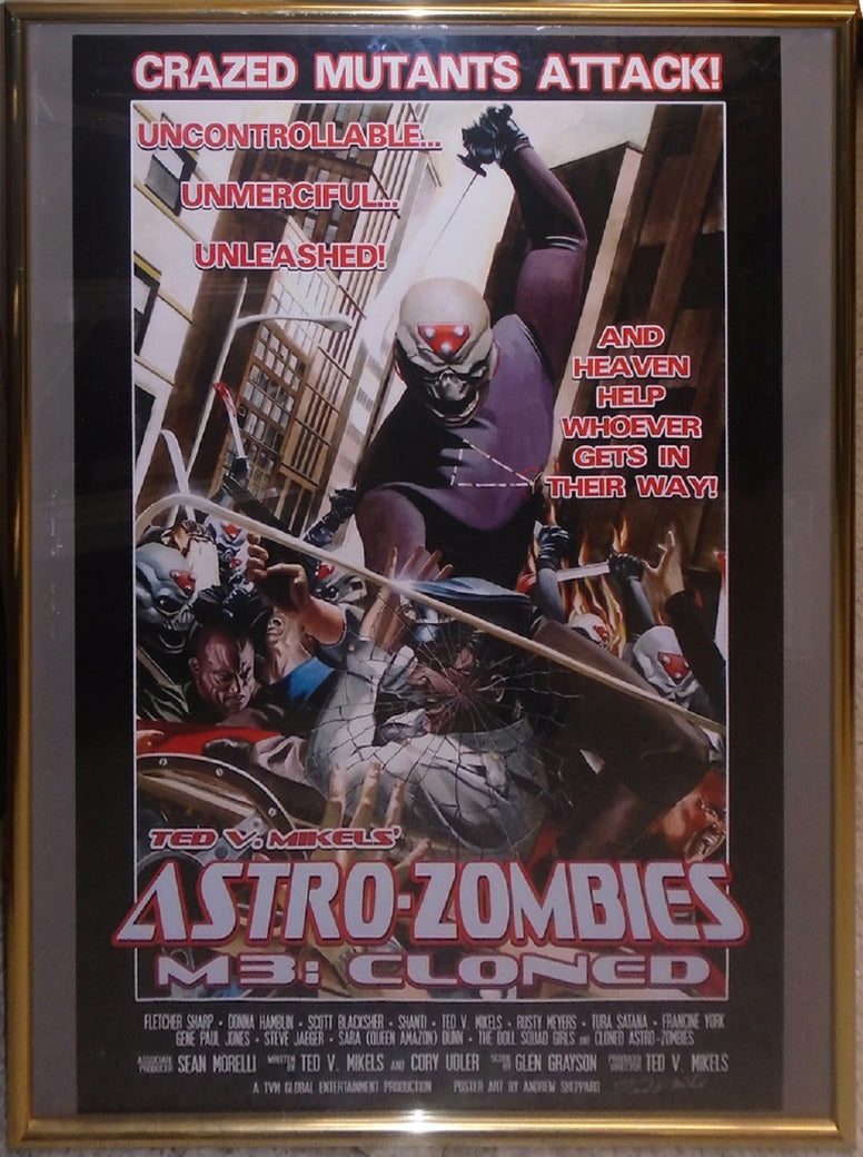 Astro Zombies: M3 - Cloned - Signed Movie Poster