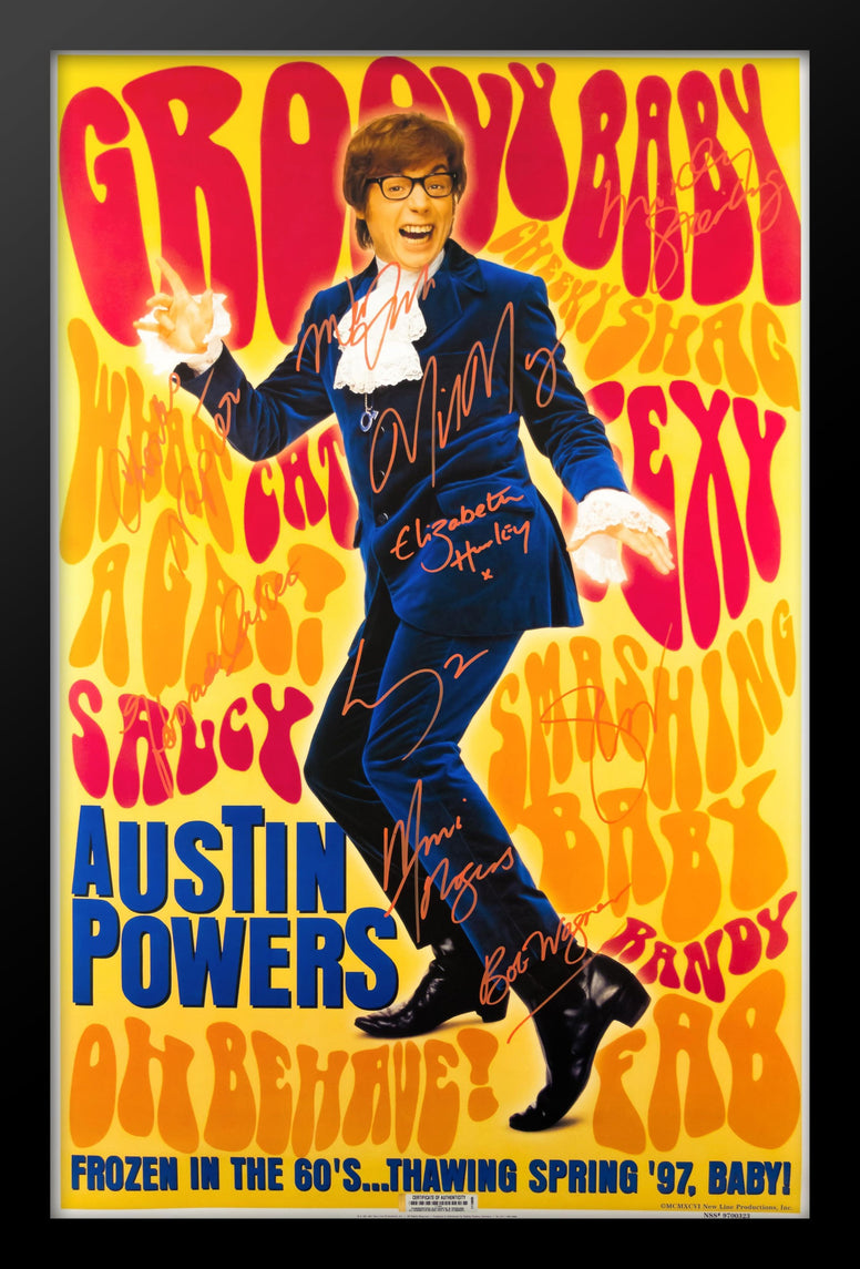 Austin Powers - Signed Movie Poster