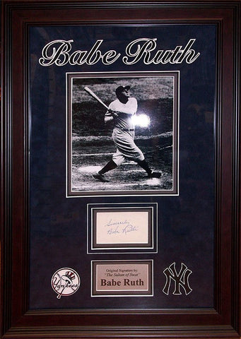 """New York Yankees""  Babe Ruth  Original Signature - LuxeWest"