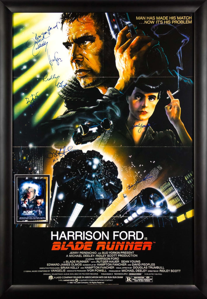 Blade Runner - Signed by Harrison Ford and Cast Movie Poster in Framed Case