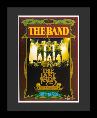 The Band Framed Concert Poster by Bob Masse