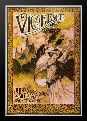 VIC Fest  Framed Concert Poster by Bob Masse
