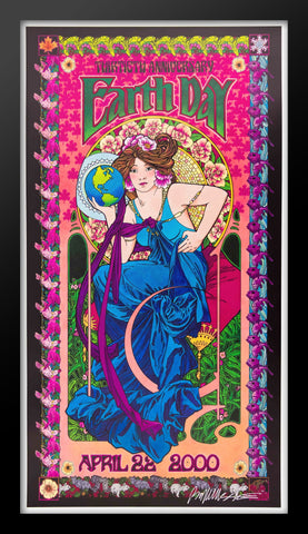 Earth Day  Framed Concert Poster by Bob Masse