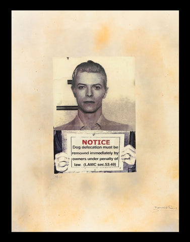 David Bowie Mug Shot Framed by Fairchild Paris