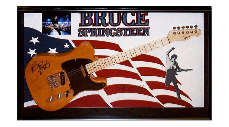 Bruce Springsteen Signed Guitar Custom Framed