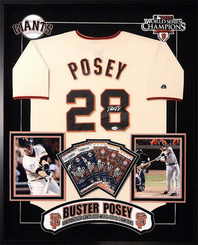 Buster Posey San Francisco Giants Signed MLB Jersey Custom Framed