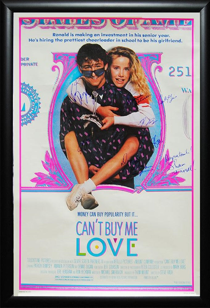 Cant Buy Me Love Signed Movie Poster Front Row Memorabilia
