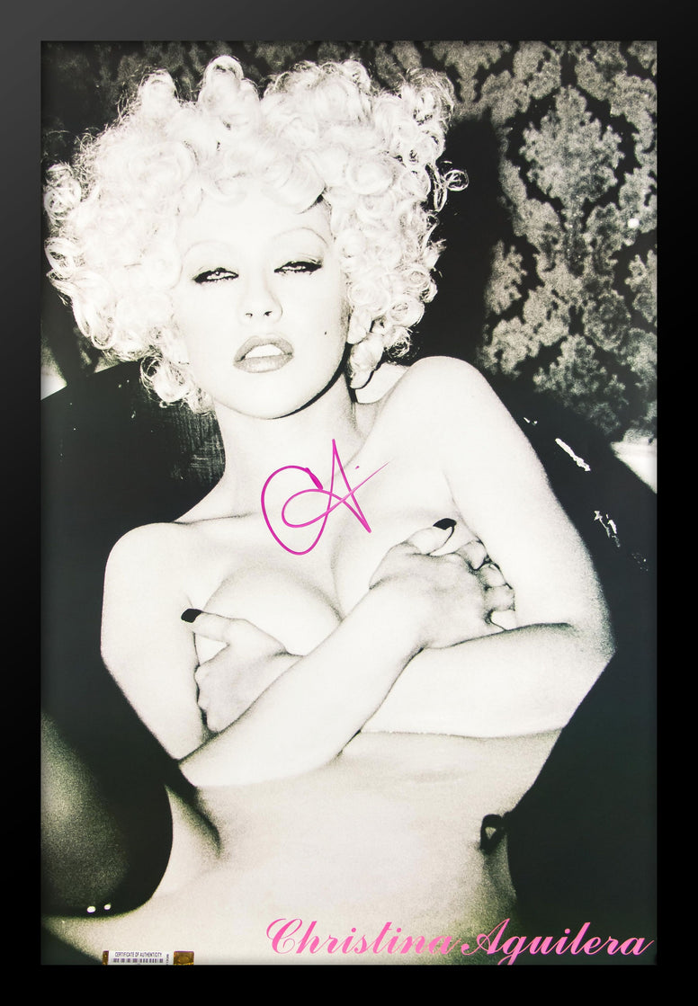 Christina Aguilera Signed Poster