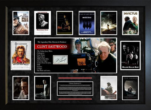 Clint Eastwood  Original Signature Movie Collage - LuxeWest