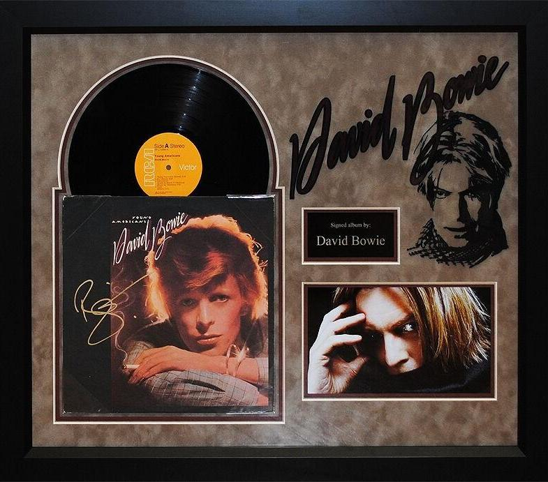 David Bowie - Young Americans - Signed Album Custom Framed