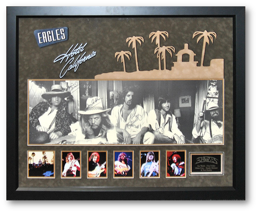 Eagles: Hotel California Autographed Band Photo - LuxeWest