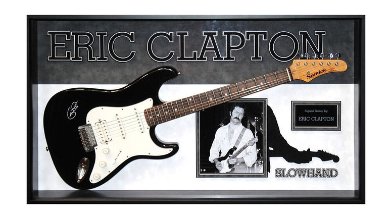 Eric Clapton Signed Guitar Slowhand Custom Framed