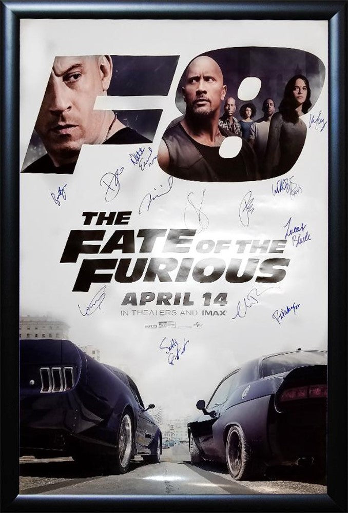 The Fate of the Furious- Signed Movie Poster