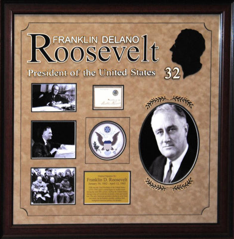 """32nd US President""  President Franklin D. Roosevelt original signature - LuxeWest"