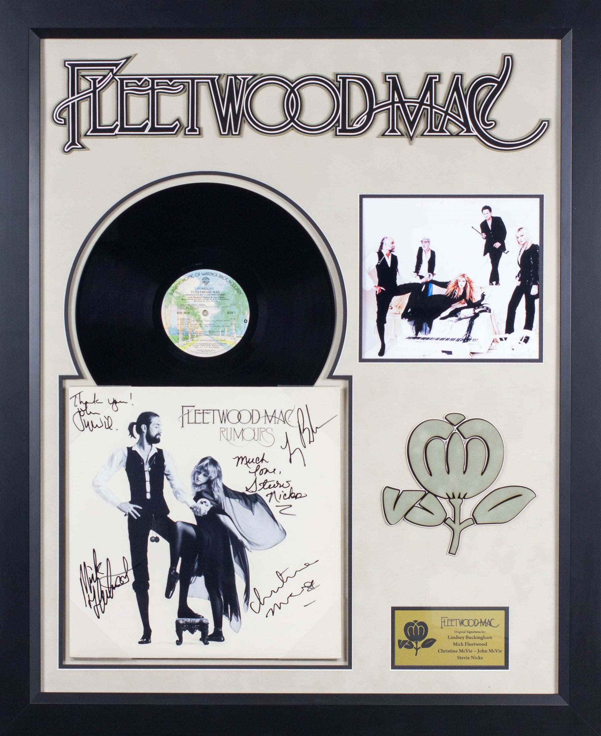Fleetwood Mac Rumours Signed LP Album Custom Framed – Front Row ...