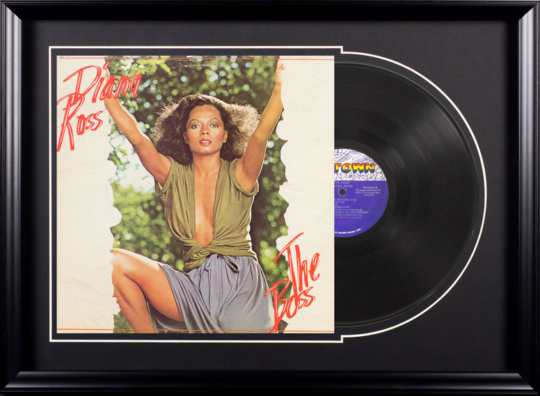 Diana Ross The Boss Vintage Album Deluxe Framed