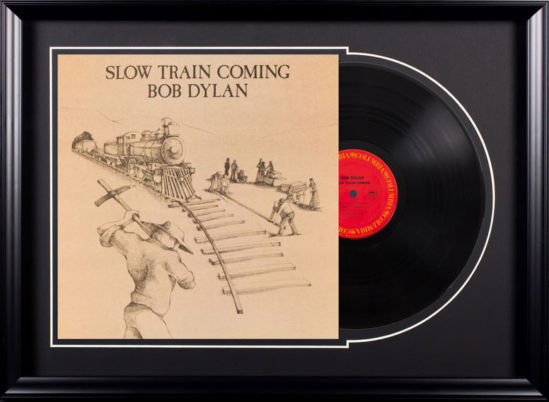 Bob Dylan Slow Train Coming Vintage Album Deluxe Framed