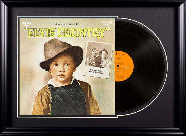 Elvis Presley Elvis Country Vintage Album Deluxe Framed