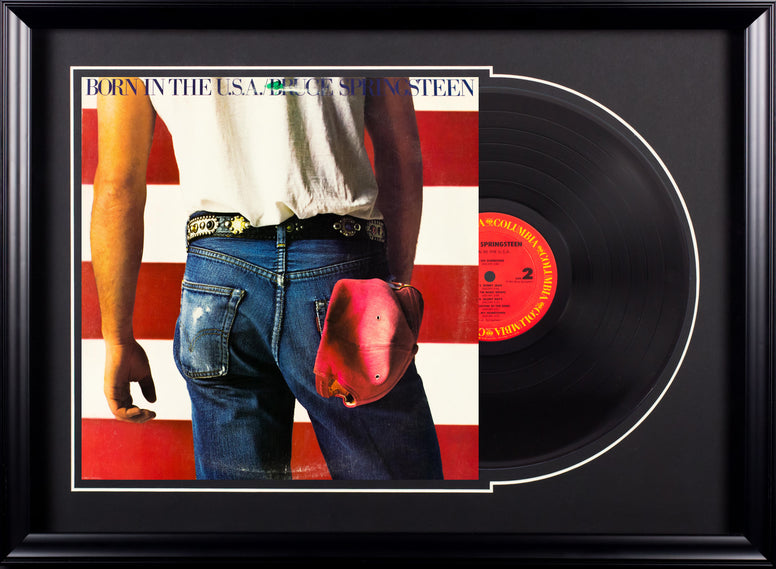 Bruce Springsteen - Born in the USA - Vintage Album in Deluxe Frame
