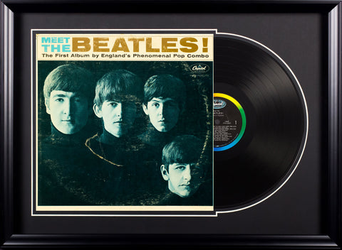 The Beatles - Meet The Beatles - Vintage Album in Deluxe Frame