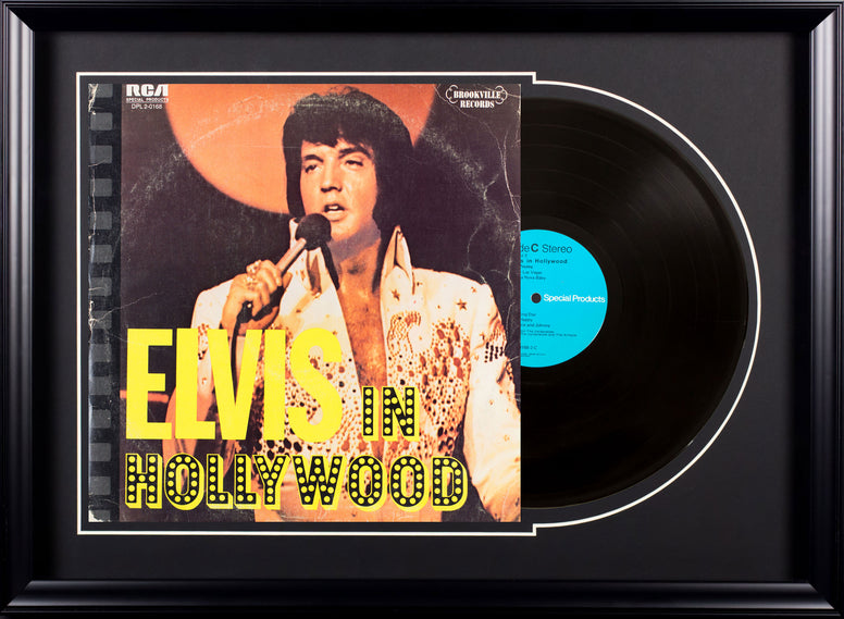 Elvis Presley Elvis In Hollywood Vintage Album Deluxe Framed