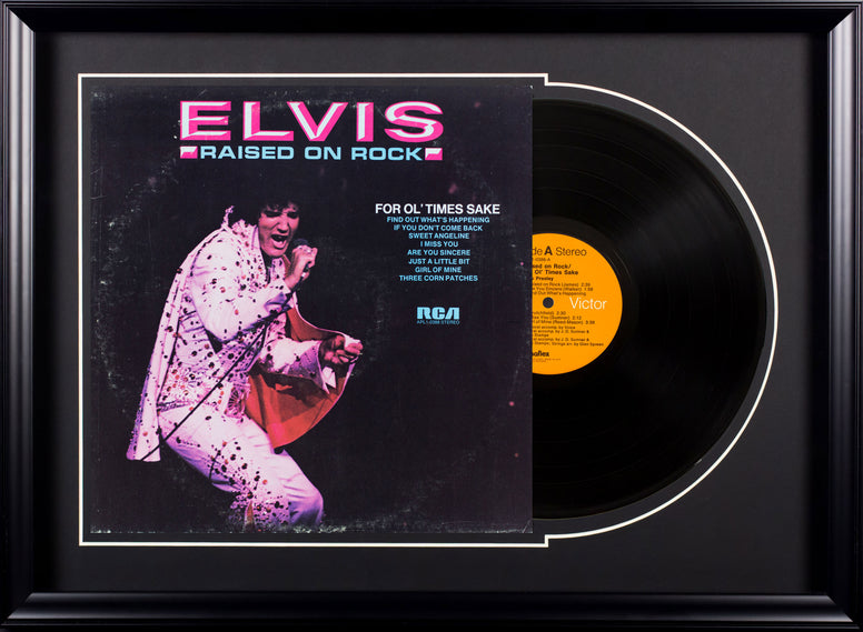 Elvis Presley For Ol' Times Sake Vintage Album Deluxe Framed