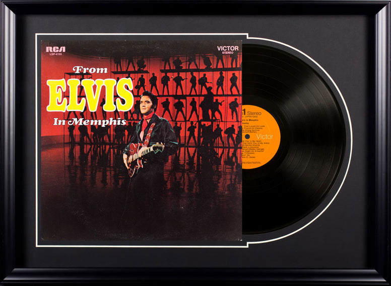 Elvis Presley From Elvis In Memphis Vintage Album Deluxe Framed