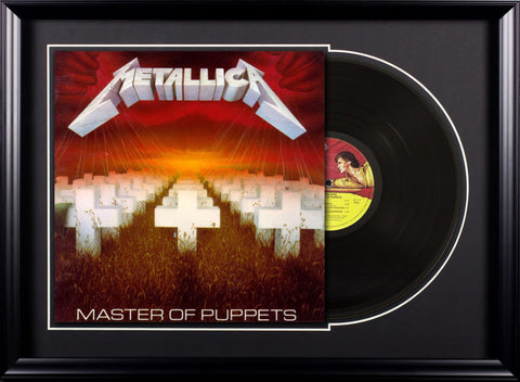 Metallica - Master Of Puppets - Vintage Album Deluxe Framed