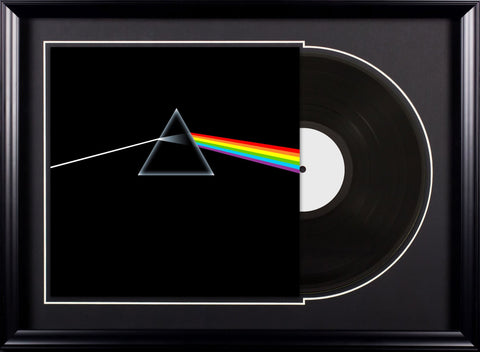Pink Floyd - The Dark Side of the Moon - Vintage Album Deluxe Framed