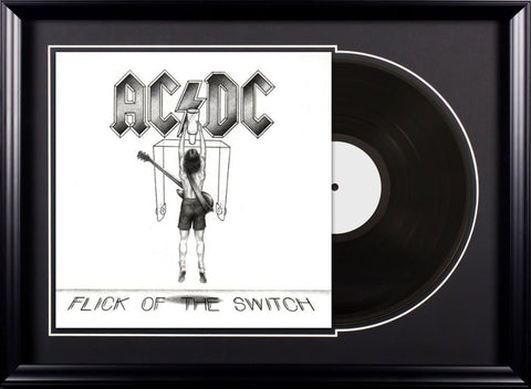 AC/DC - Flick of the Switch - Vintage Album Deluxe Framed