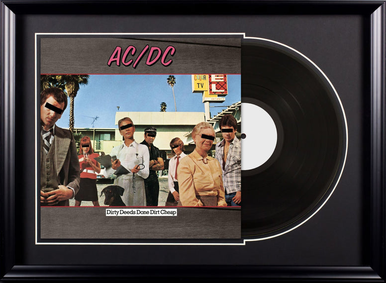 AC/DC - Dirty Deeds Done Dirt Cheap - Vintage Album Deluxe Framed