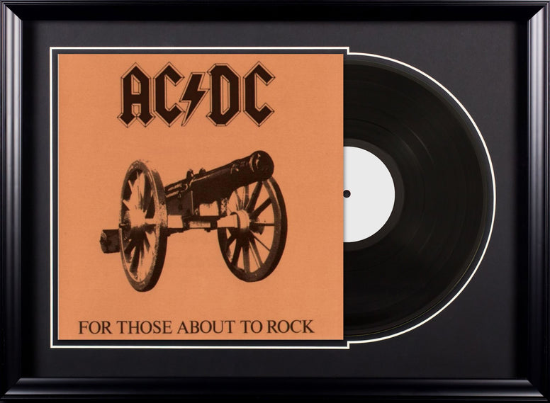 AC/DC - For Those About to Rock - Vintage Album Deluxe Framed
