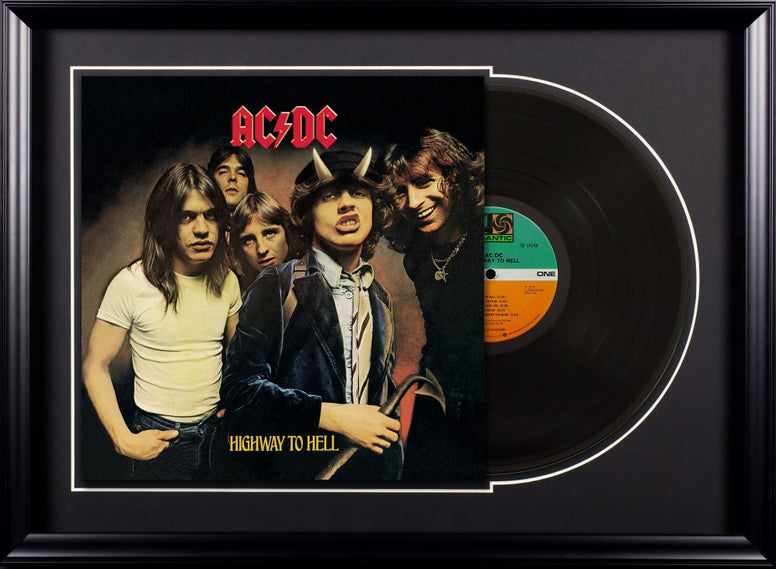 AC/DC - Highway to Hell - Vintage Album Deluxe Framed