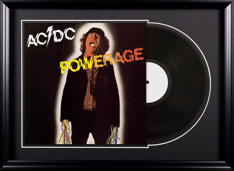 AC/DC - Powerage - Vintage Album Deluxe Framed