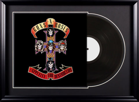 Guns N' Roses - Appetite for Destruction - Vintage Album Deluxe Framed