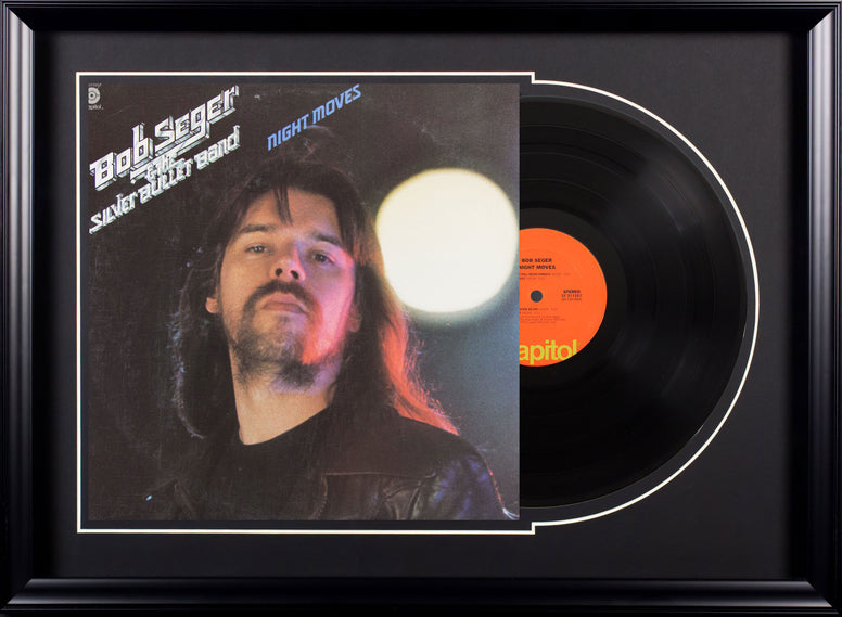 Bob Seger and the Silver Bullet Band Night Moves  Vintage Album Deluxe Framed