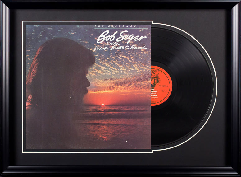 Bob Seger and the Silver Bullet Band The Distance Vintage Album Deluxe Framed