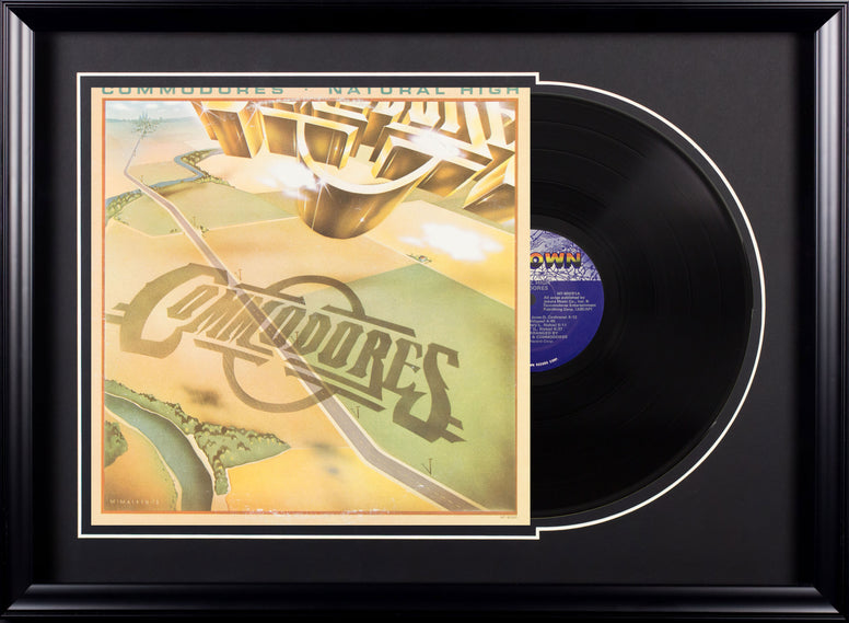 Commodores Natural High Vintage Album Deluxe Framed