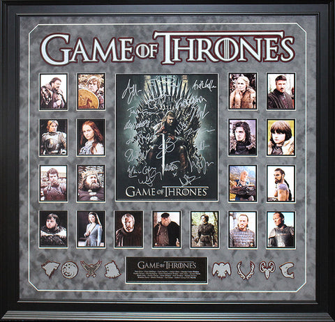 Game of Thrones - Cast Signed 35x30 Collage Custom Framed