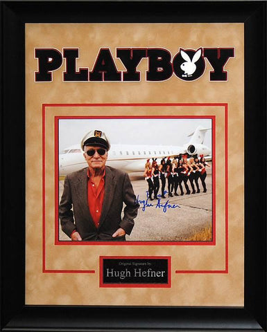 Hugh Hefner Playboy - Signed 8x10 Photo in Custom Frame