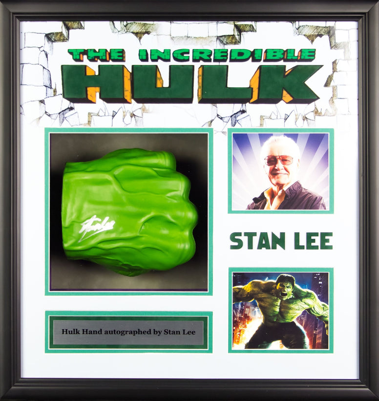 The Hulk - Stan Lee Signed Fist Collage Poster 21x21 PSA/DNA