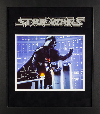 Star Wars - Signed David Prowse Movie Photo - Framed Artist Series