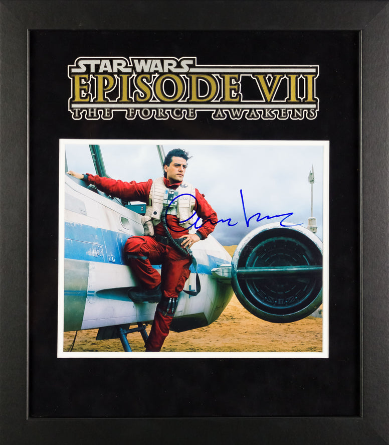 Star Wars - Signed Oscar Isaac Movie Photo - Framed Artist Series