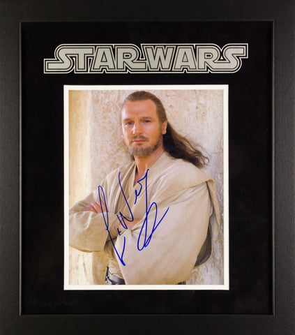 Star Wars - Signed Liam Neeson Photo - Framed Artist Series