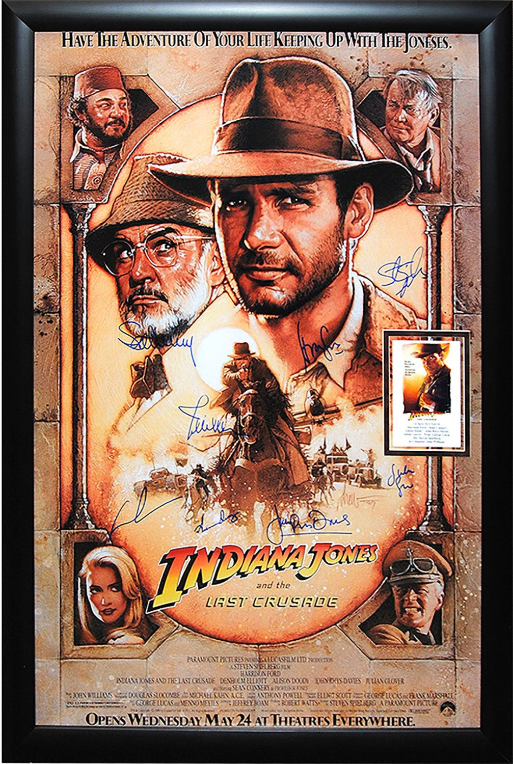 Indiana Jones and the Last Crusade - Signed Movie Poster Framed ...
