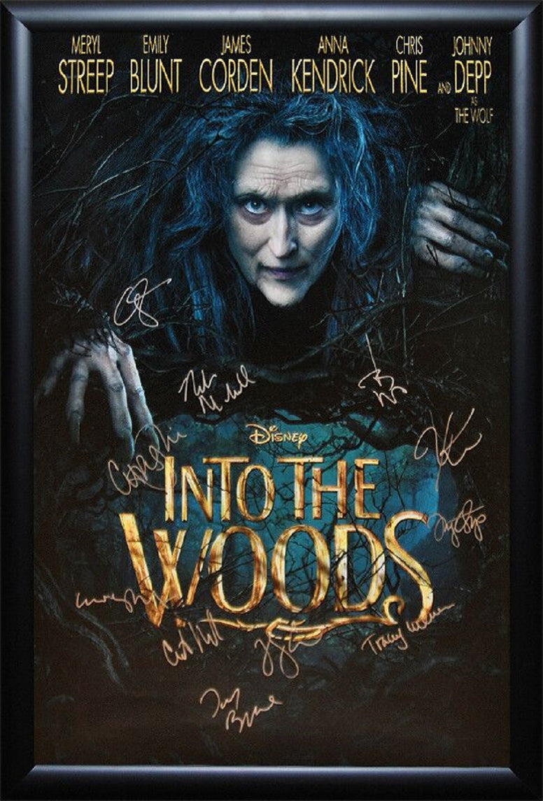 Into The Woods - Signed Movie Poster