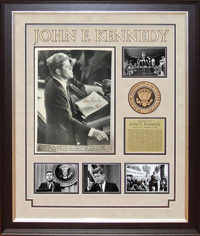"""35th US President""  John F. Kennedy signed image"