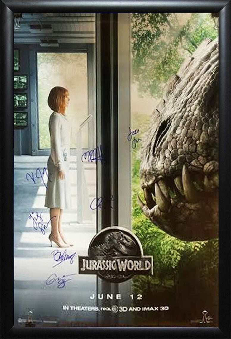 Jurassic World - Signed Movie Poster